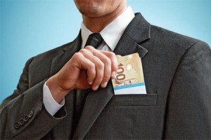 businessman-Canadian-money